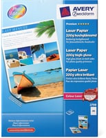 Avery Laser-Papier Glossy 200g/m2 A4 weiss