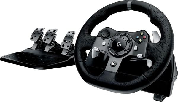 logitech g g920 driving force racing wheel pc xbox. Black Bedroom Furniture Sets. Home Design Ideas