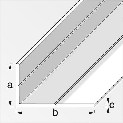 alfer Cornière 35.5 x 65.6 mm brut 1 m