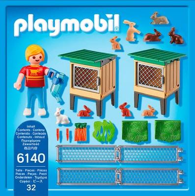 PLAYMOBIL Country Recinto dei conigli con gabbia coperta 6140
