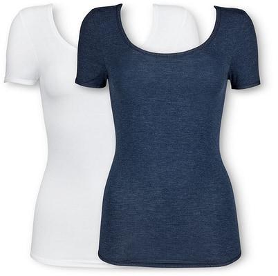 Schiesser Damen Shirt nachtblau