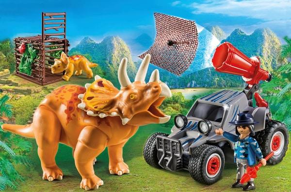 Playmobil Bandit avec tricératops 9434