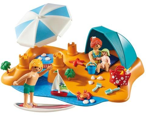 Playmobil Famille de vacanciers et tente