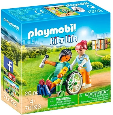 Playmobil 70193 City Sedia a Rotelle