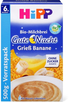 HiPP Gute-Nacht-Brei Grieß-Banane