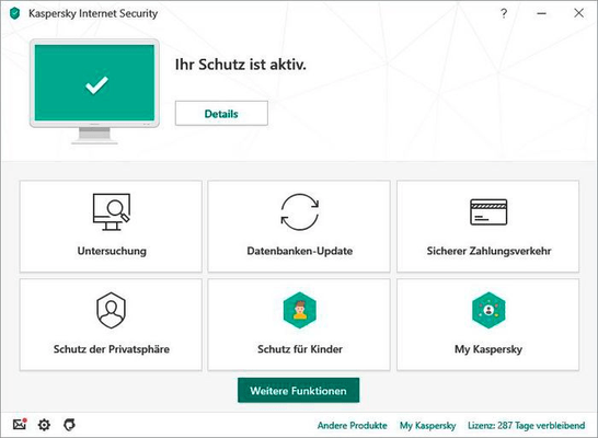 Kaspersky Internet Security (1 PC) [PC/Mac/Android] (D/F/I) Physique (Box)