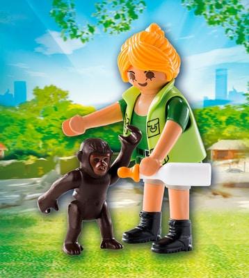 Playmobil Playmo-Friends Soigneuse avec bébé gorille 9074