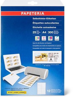 Papeteria Webstamps 97x42 3mm 25 Blatt
