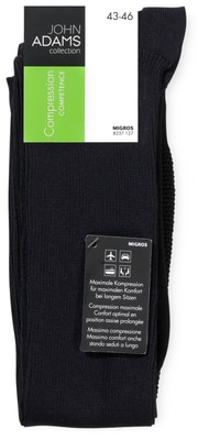 HERREN KNIESOCKEN COMPRESSION 1ER PACK schwarz