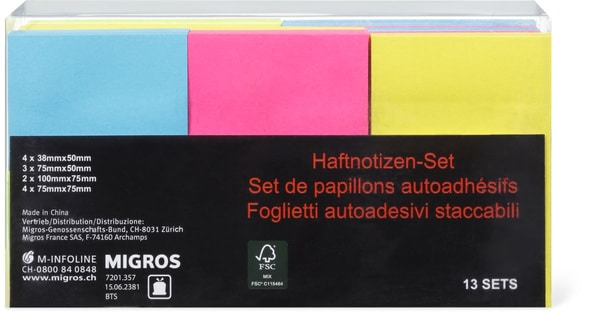 Papeteria Haftnotizen-Set Neon