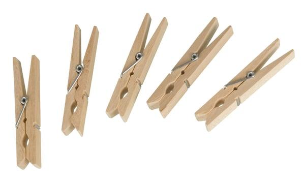 WENKO Wäscheklammer Holz FSC 50er