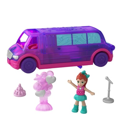 Polly Pocket GGC39 Pollyville Fahrzeuge Puppenset