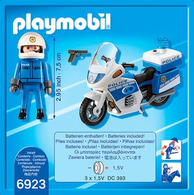 City Action Police-Motorrad mit LED-Blinklicht int. 6923