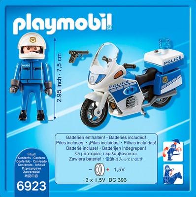PLAYMOBIL City Action Police-Motorrad mit LED-Blinklicht int. 6923