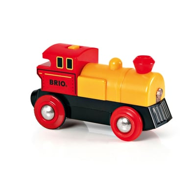 BRIO Locomotiva a pile (FSC)
