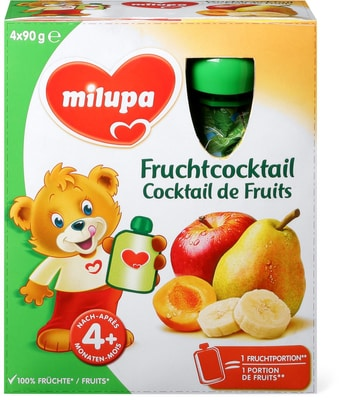 Milupa Gourdes de fruits Cocktail de Fruits 5 x 40g