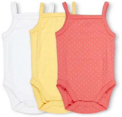 BABY BODY OHNE ARM 3ER PACK gelb