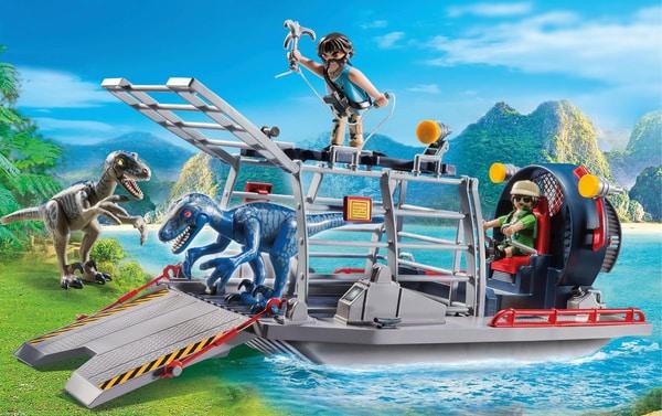 Playmobil Bateau avec cage et deinonychus 9433