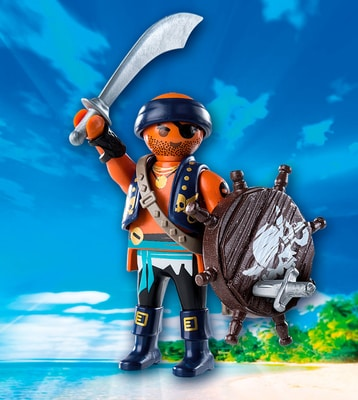 Playmobil Playmo-Friends Pirate avec bouclier 9075