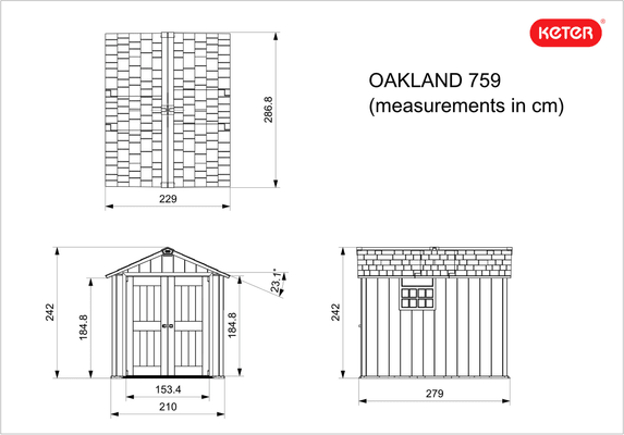 Keter RTC-Remise à outils Oakland 759