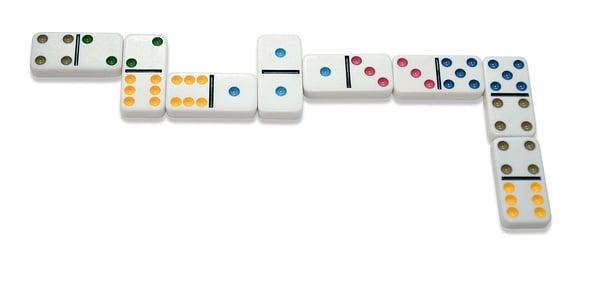 Noris Deluxe Doppel 6 Domino Gesellschaftsspiel
