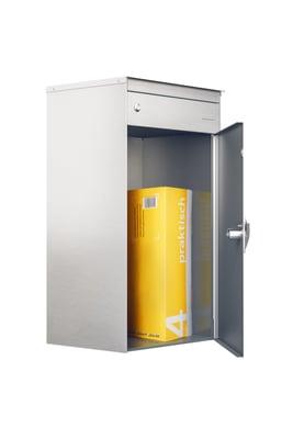 Stebler Briefkasten mit Paketschliessfach s:box17 Schokobraun/Weissal