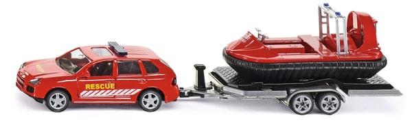 SIKU PKW mit Anhänger+Hovercraft 1:55