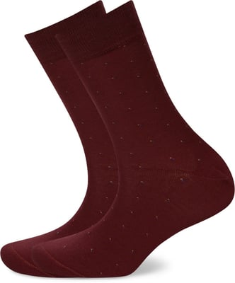 HERREN SOCKEN DOTS 2ER PACK bordeaux