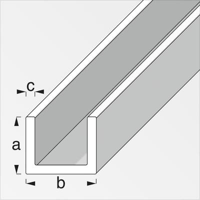 alfer U-Profilé 1 x 10 x 12 mm PVC blanc 1 m