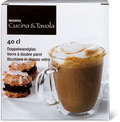 Cucina & Tavola Verre thé douple paroi 400ml