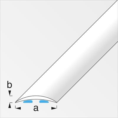 alfer Übergangsprofil 40 x 5 mm messingfarben 1 m