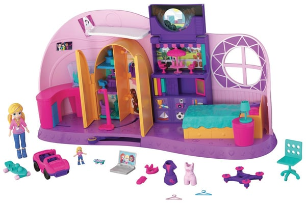 Polly Pocket Playser Trasformabile Cameretta Di Polly