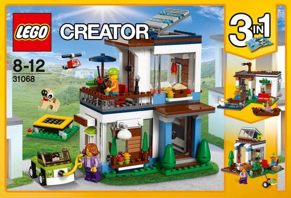 Lego creator modernes zuhause 31068 migros for Modernes lego haus