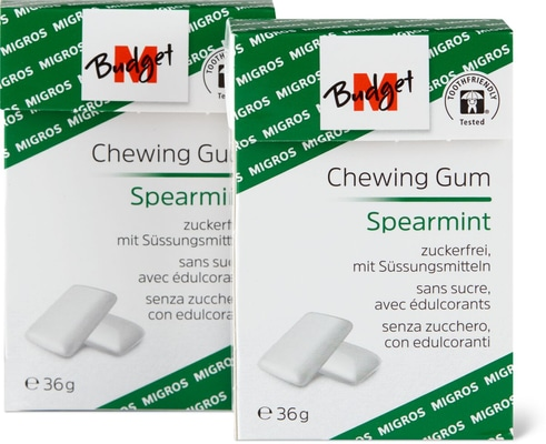 M-Budget chewing gum Spearmint