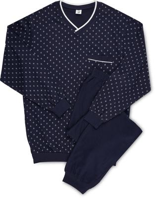 Pyjama Bio Cotton V-Neck, bedruckt