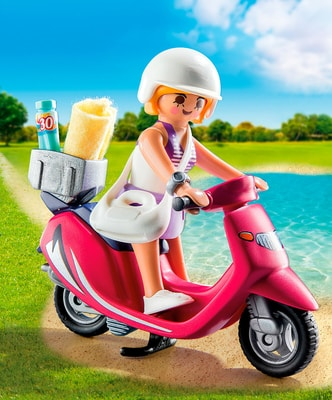 PLAYMOBIL® Special Plus Strand-Girl mit Roller 9084