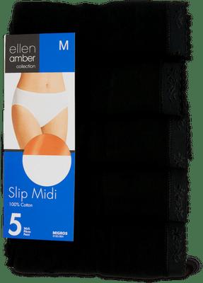 Ellen Amber Damen-Slip-Midi oder -Maxi im 5er-Pack