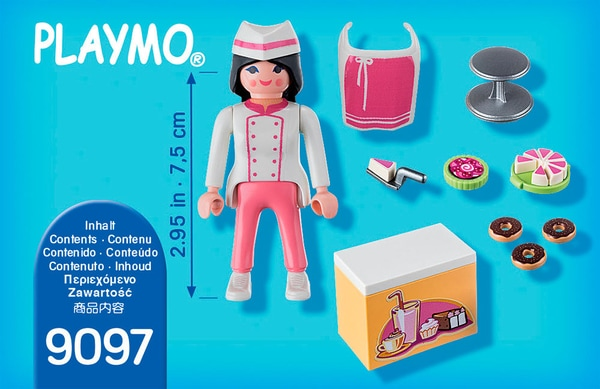 Playmobil Special Plus Pâtissière avec gâteaux 9097