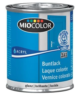 Miocolor Acryl Vernice colorata lucida Nero 375 ml
