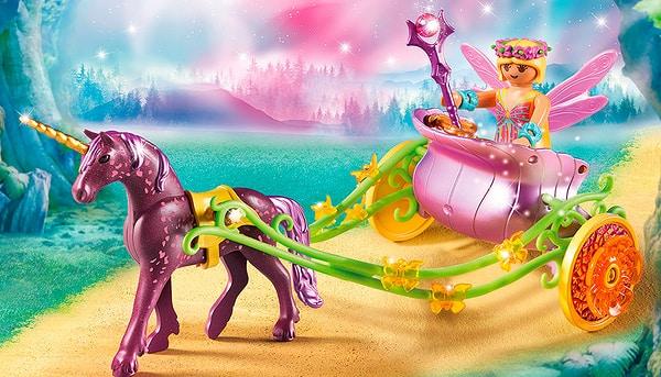 Playmobil Fairies Carrozza della fata dei fiori con unicorno 9136