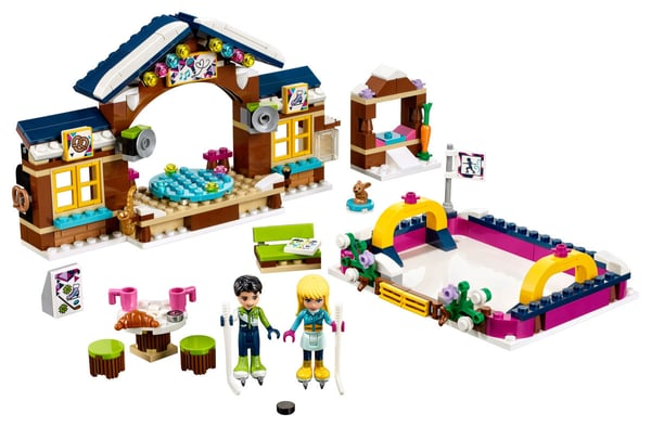 LEGO Friends La pista di pattinaggio del villaggio in 41322