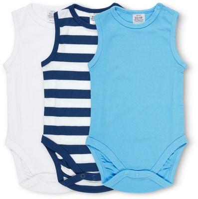 BABY BODY OHNE ARM 3ER PACK blau