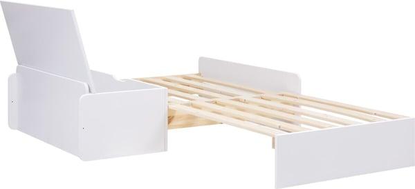 Flexa WHITE Lit-banquette avec tiroir à literie