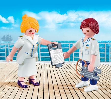 Playmobil Duo Packs Comandante e Hostess nave da crociera 9216