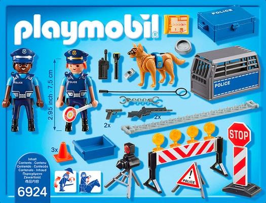 PLAYMOBIL City Action Barrage de police int. 6924
