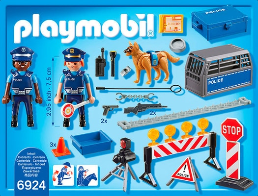 PLAYMOBIL City Action Barrage de police int. 6924