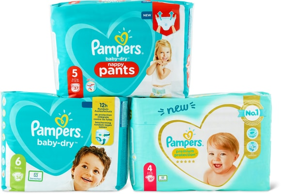 Toutes les couches Pampers