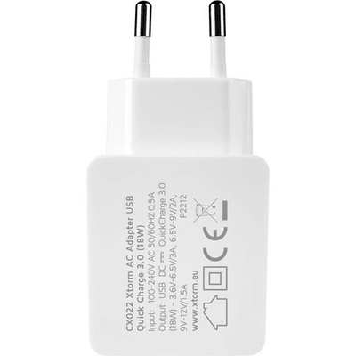 Xtorm AC Adapter USB QC 3.0 white, 18W Output