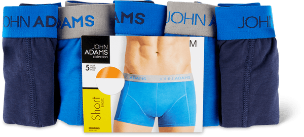 John Adams Herren-Short im 5er-Pack
