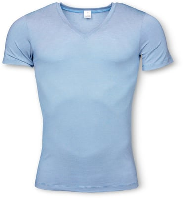 MEN'S V-NECK SHIRT blau
